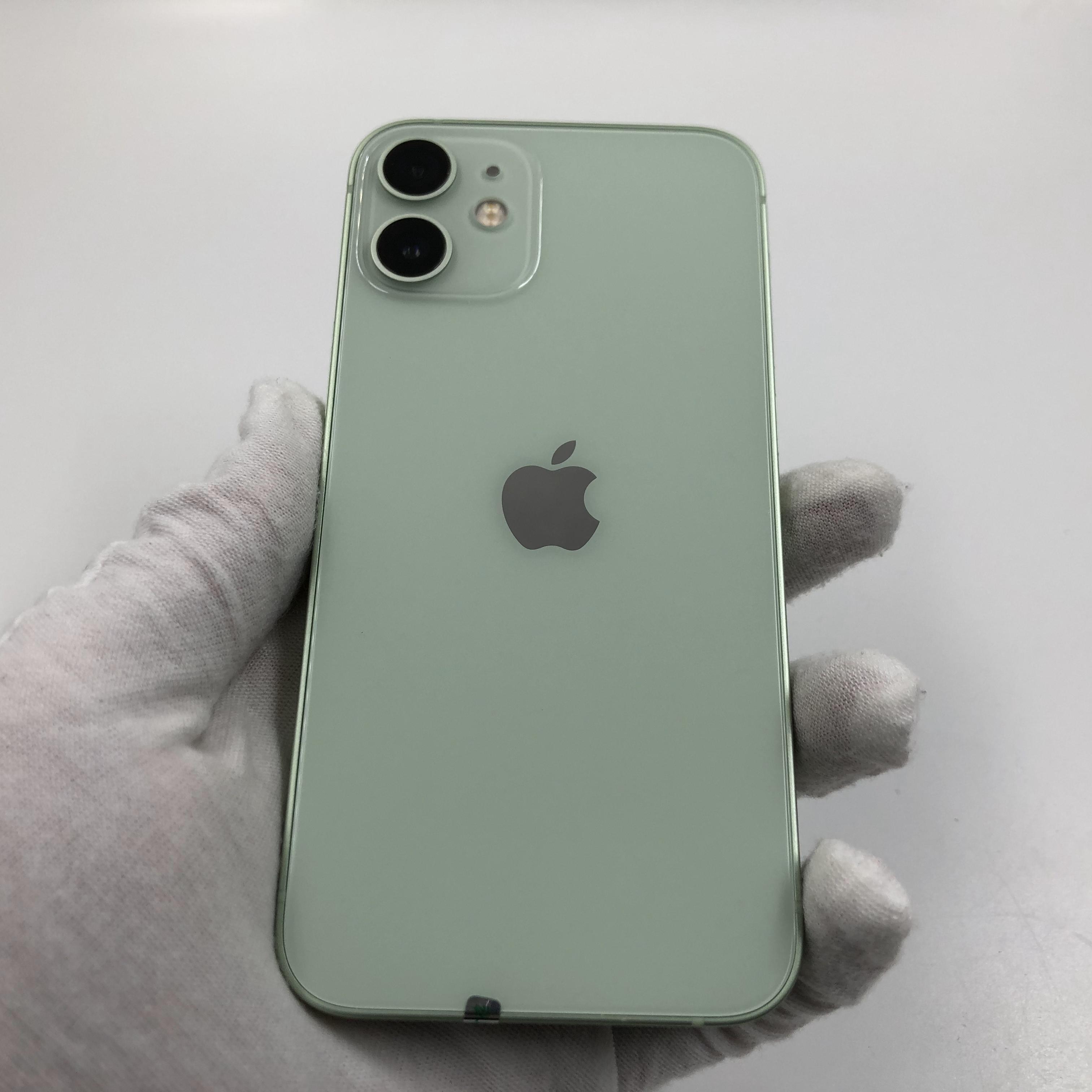 苹果【iPhone 12 mini】5G全网通 绿色 64G 国行 99新 真机实拍官保2022-04-10