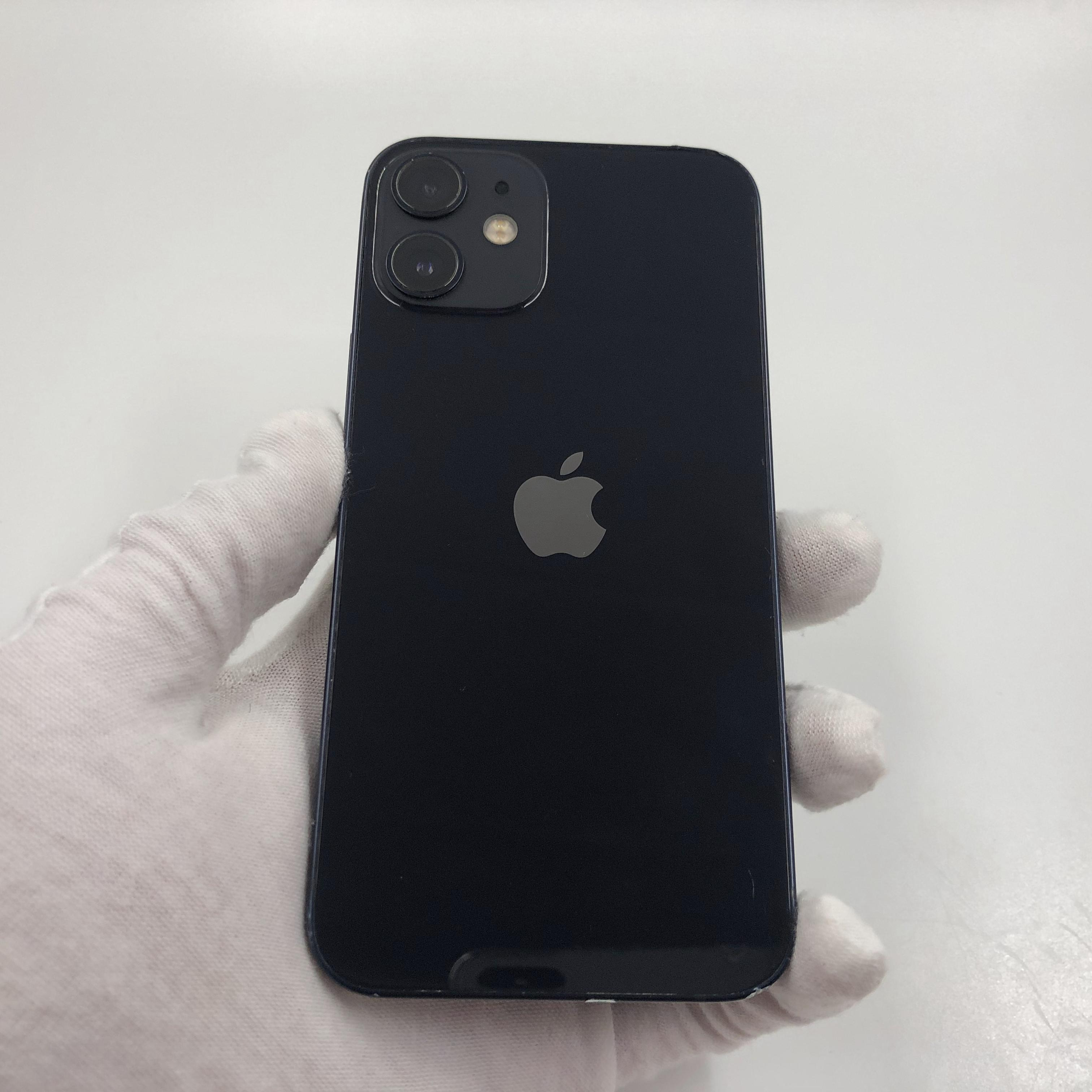 苹果【iPhone 12 mini】5G全网通 黑色 64G 国行 9成新 真机实拍官保2021-11-18
