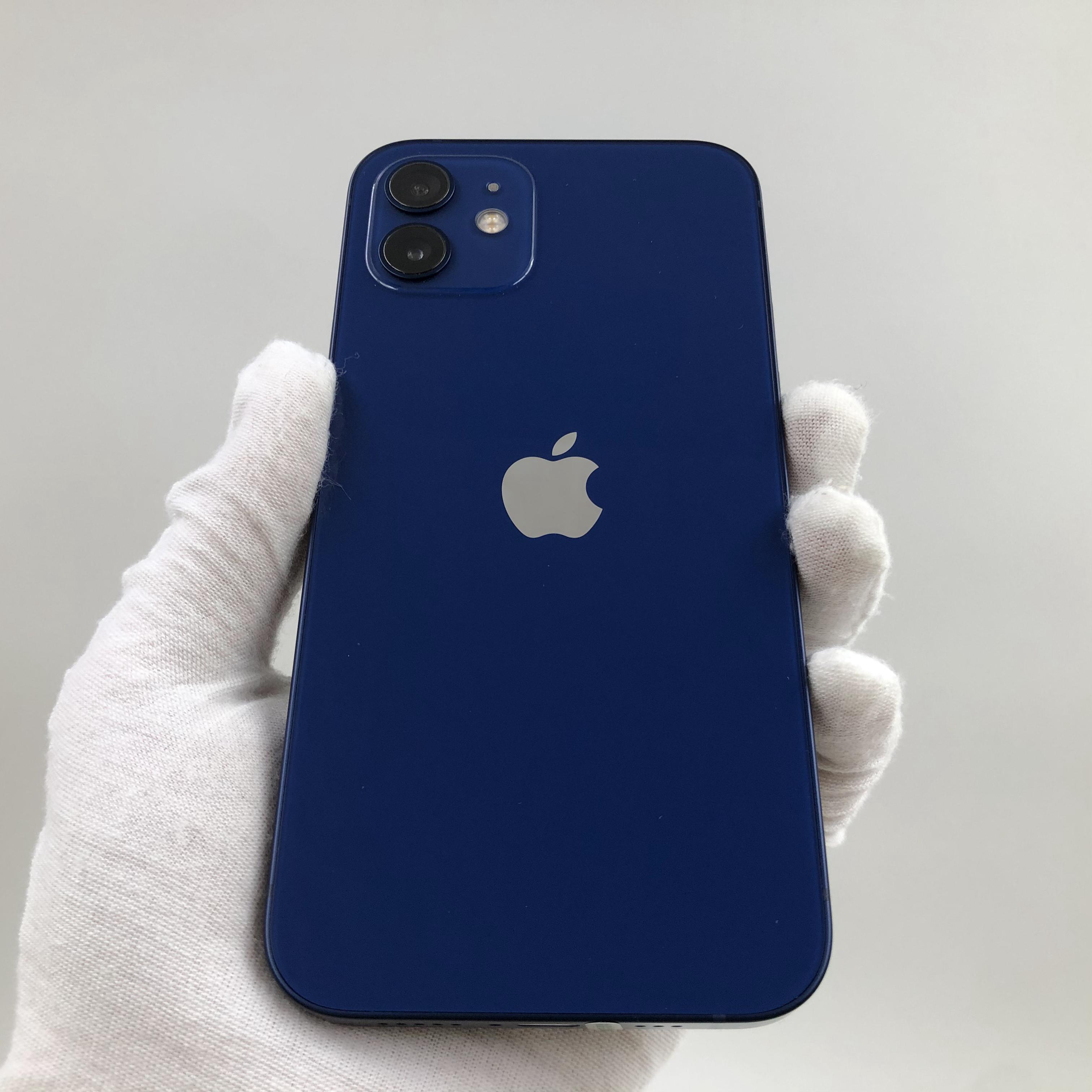 苹果【iPhone 12】5G全网通 蓝色 128G 国行 99新 真机实拍