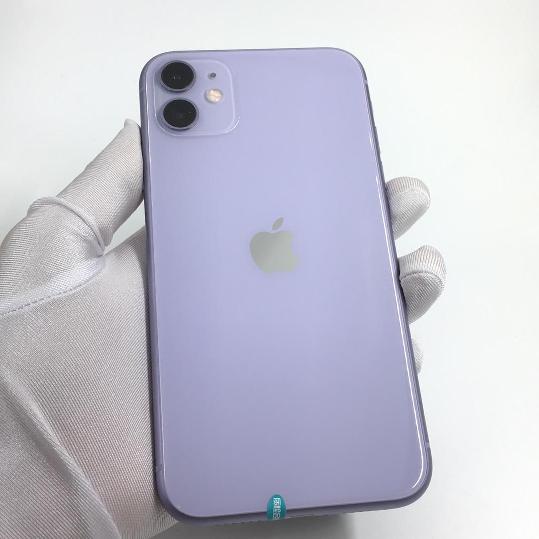苹果【iPhone 11】4G全网通 紫色 64G 国行 95新 64G真机实拍