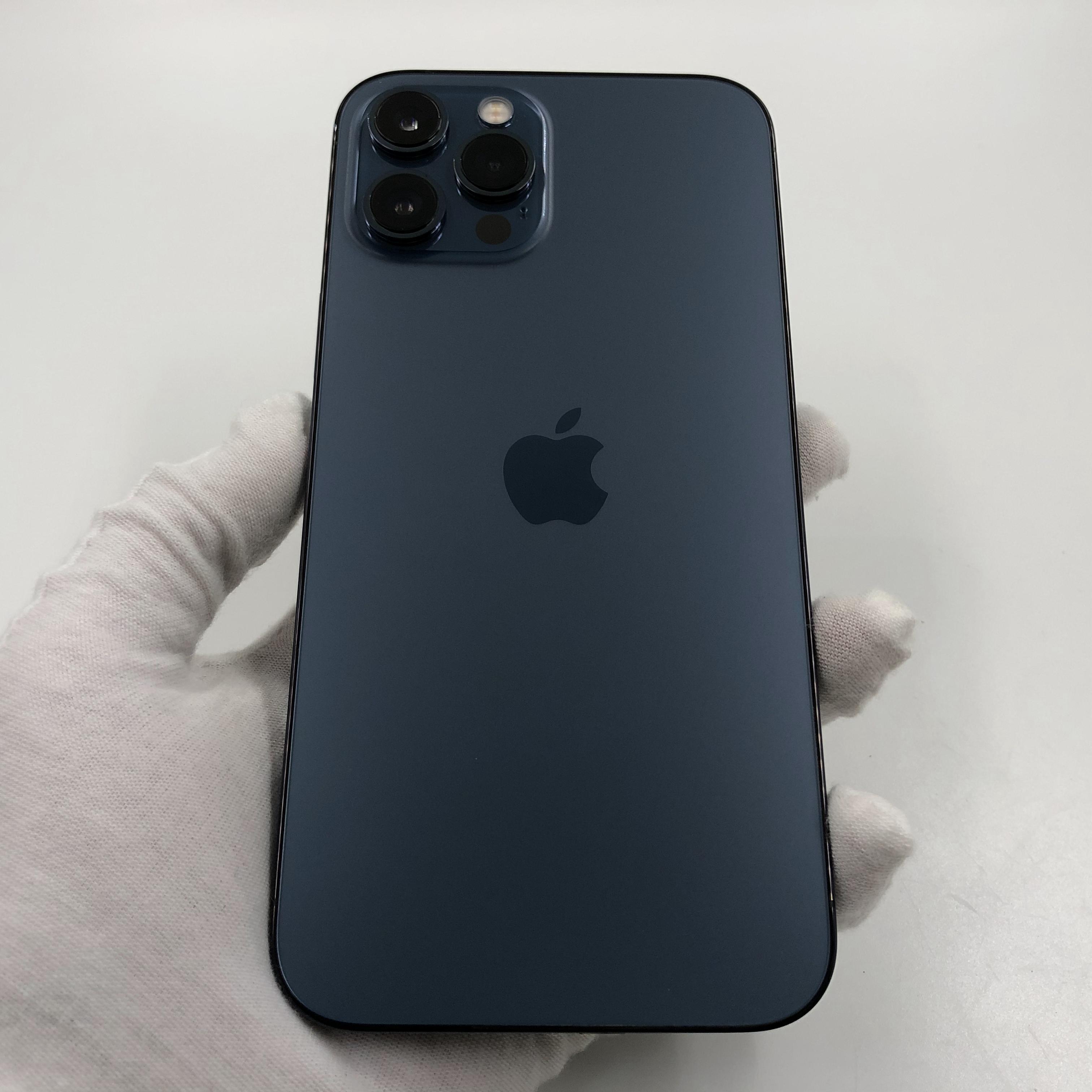 苹果【iPhone 12 Pro Max】5G全网通 海蓝色 128G 国行 99新 真机实拍官保2021-12-01