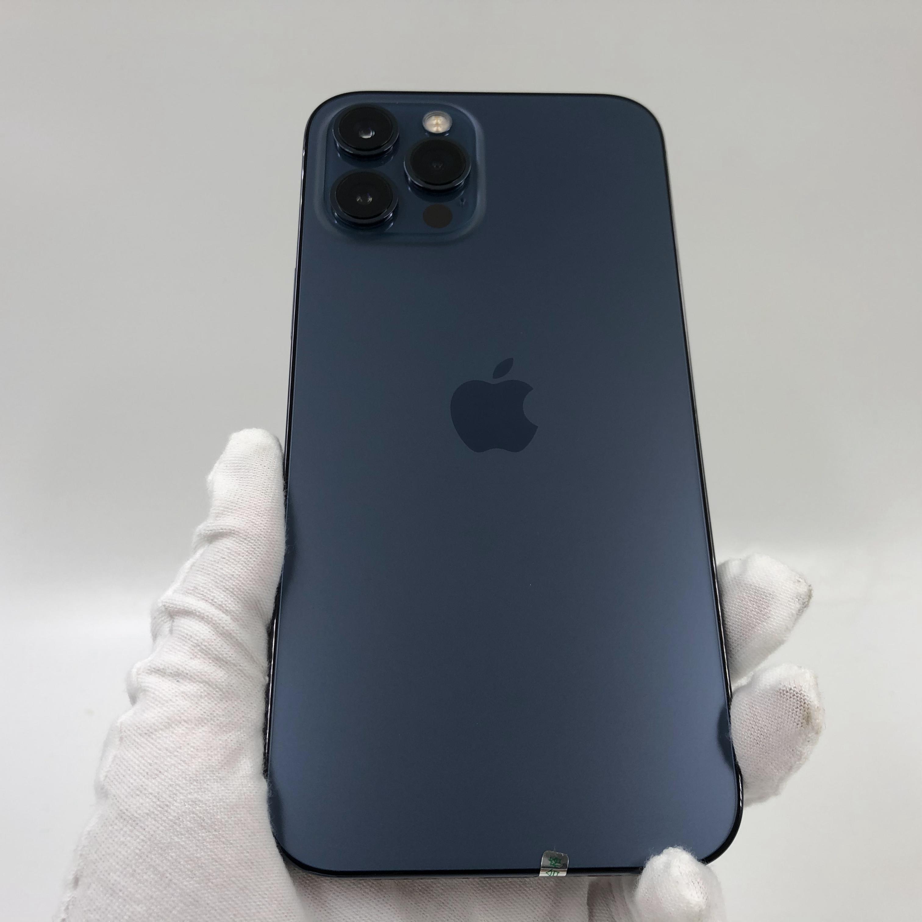 苹果【iPhone 12 Pro Max】5G全网通 海蓝色 128G 国行 99新 真机实拍官保2021-12-04v