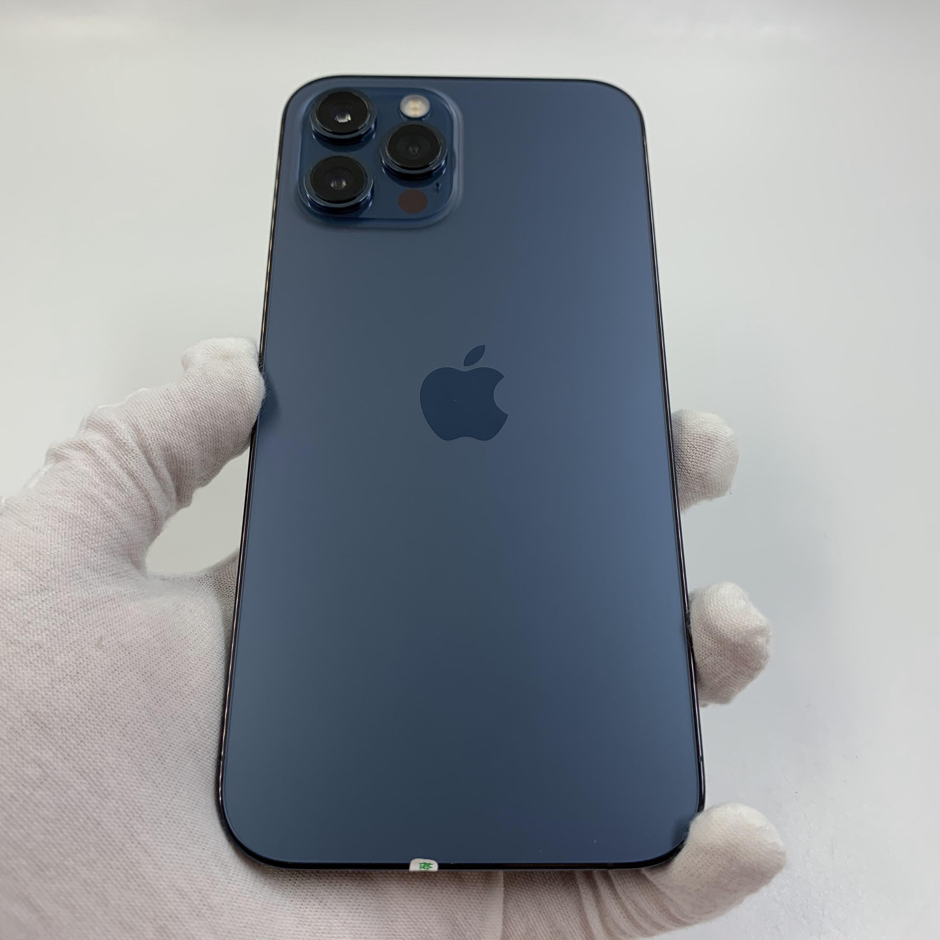 苹果【iPhone 12 Pro Max】4G全网通 海蓝色 256G 国行 95新 真机实拍官保2021-12-29
