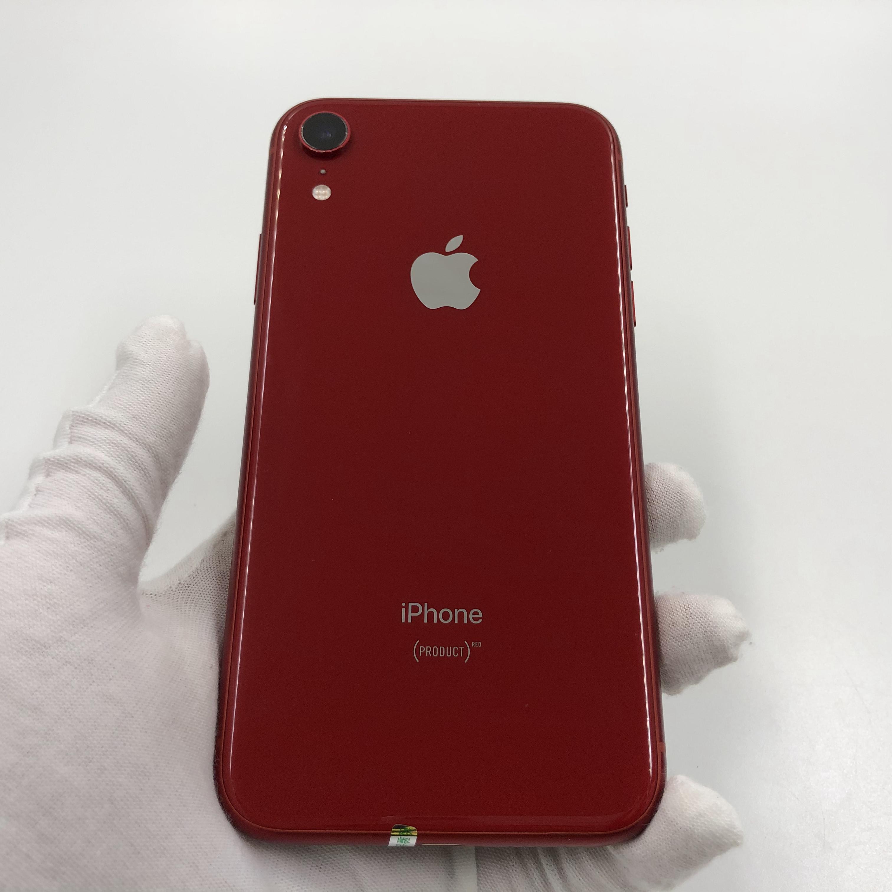苹果【iPhone XR】移动联通 4G/3G/2G 红色 128G 国际版 8成新 真机实拍