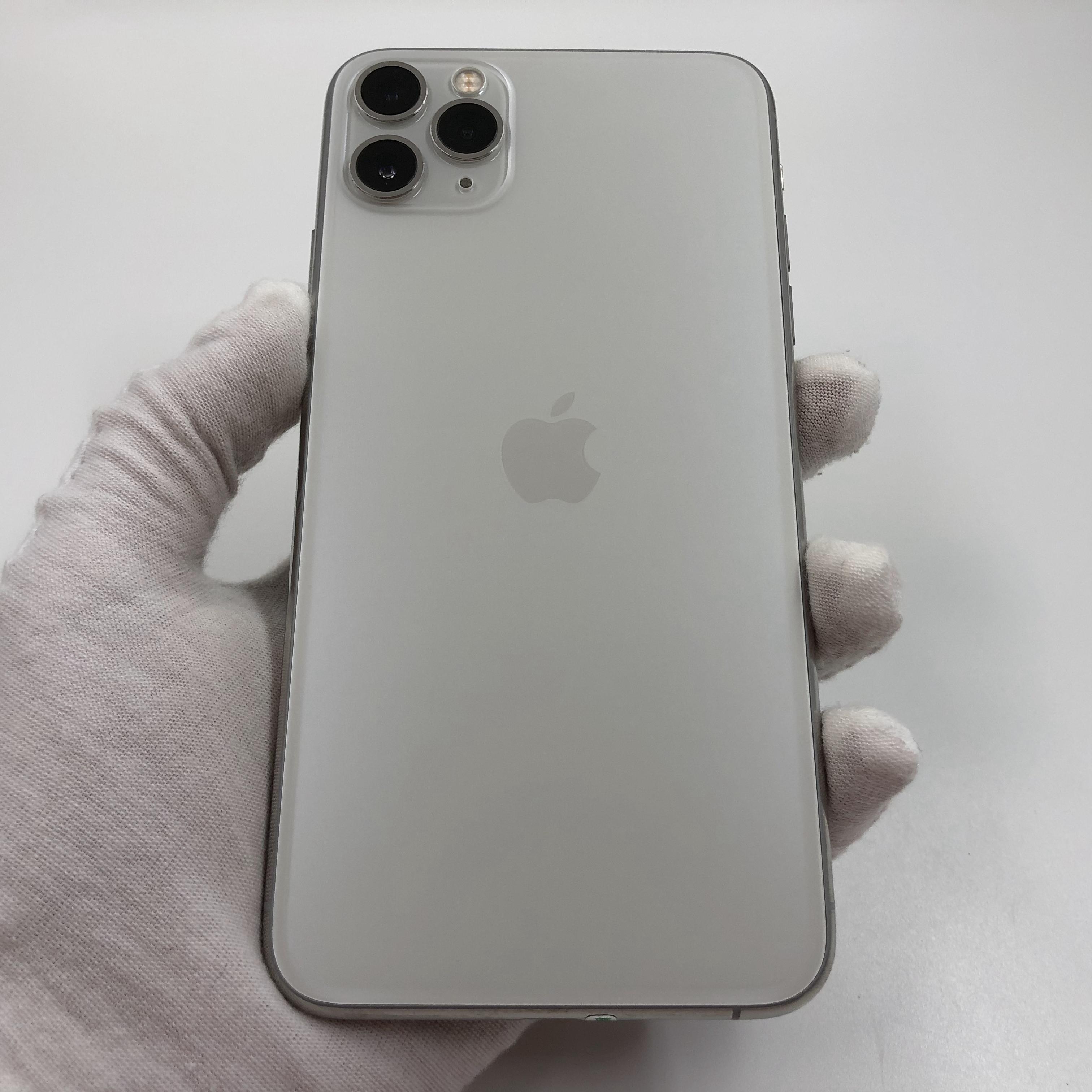 苹果【iPhone 11 Pro Max】4G全网通 银色 64G 国行 8成新 真机实拍