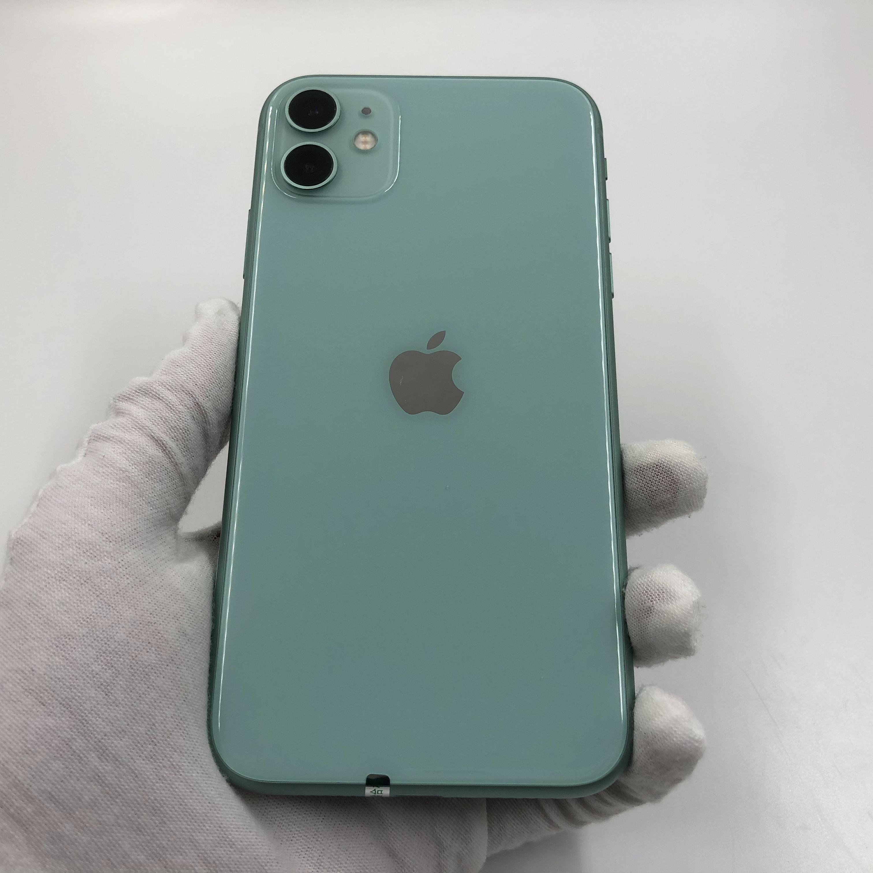 苹果【iPhone 11】4G全网通 绿色 64G 国行 99新 真机实拍