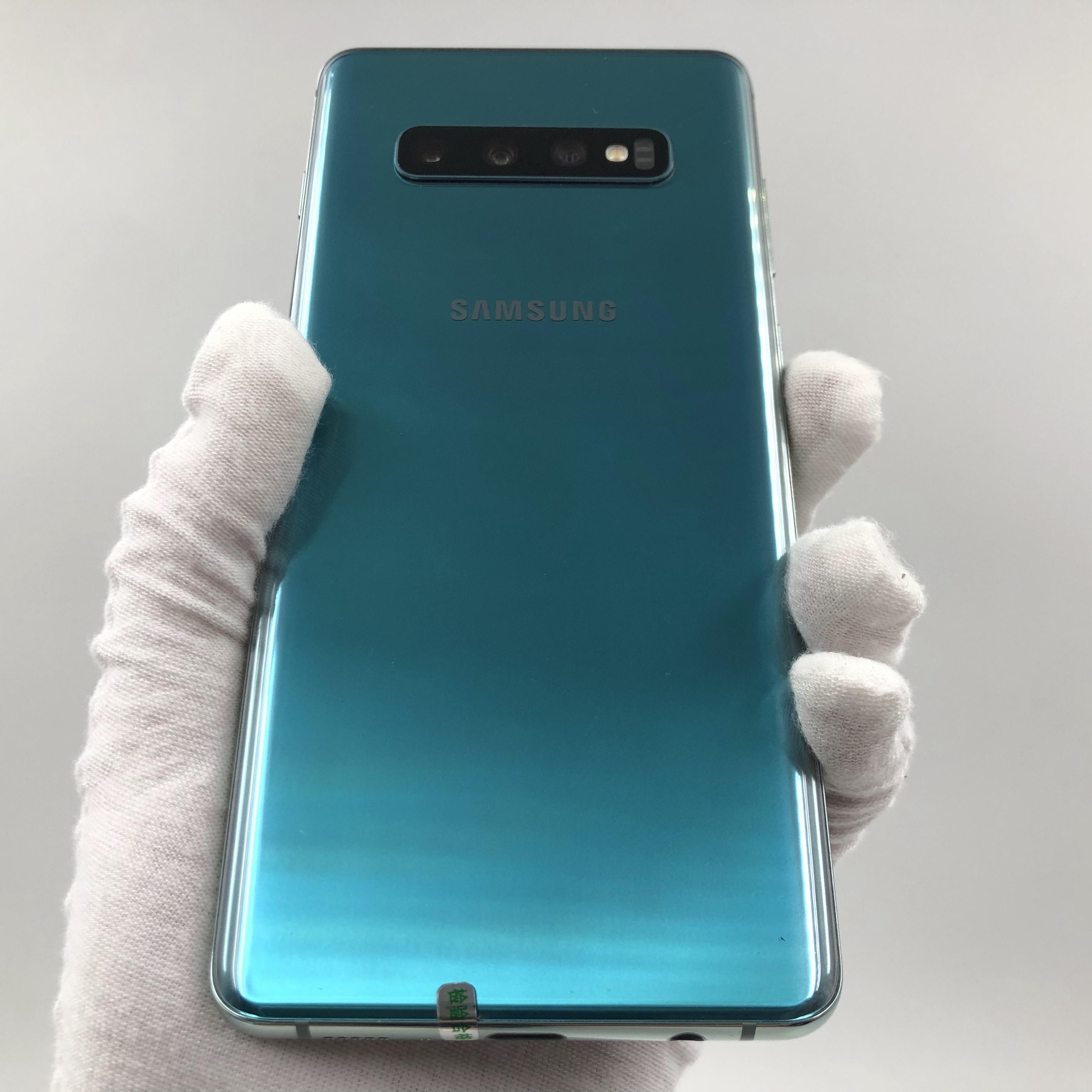 三星【Galaxy S10+】4G全网通 绿色 8G/128G 国行 8成新 真机实拍