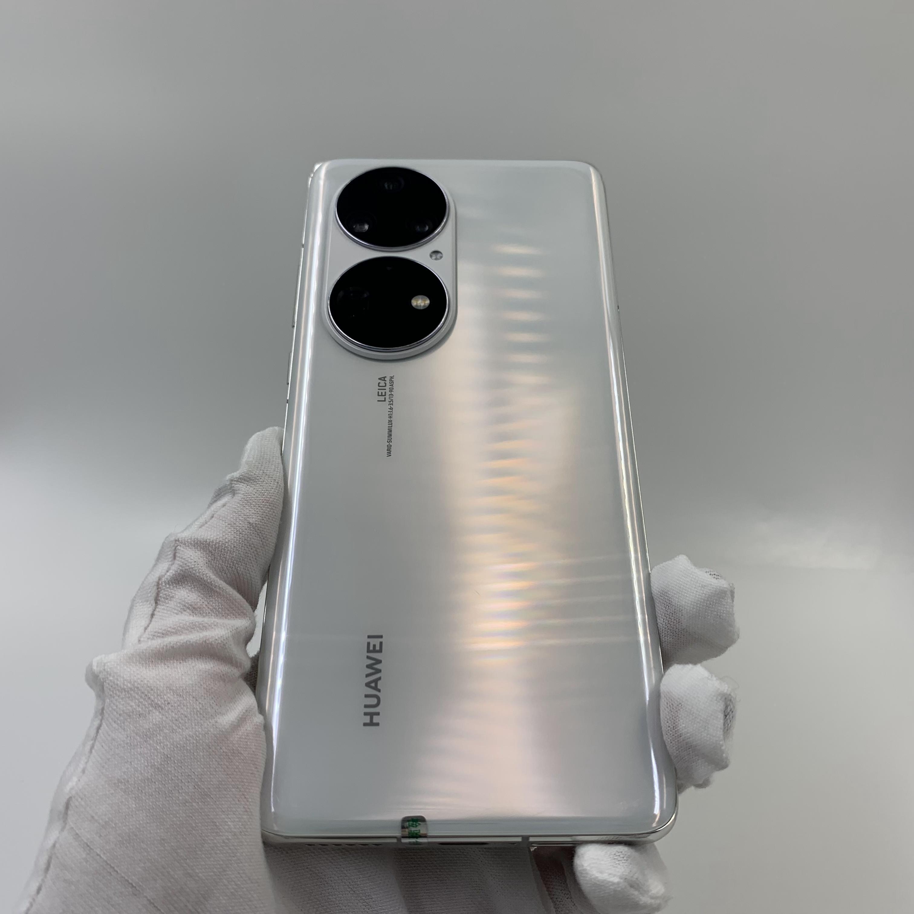 华为【P50 Pro】4G全网通 雪域白 8G/512G 国行 9成新 真机实拍