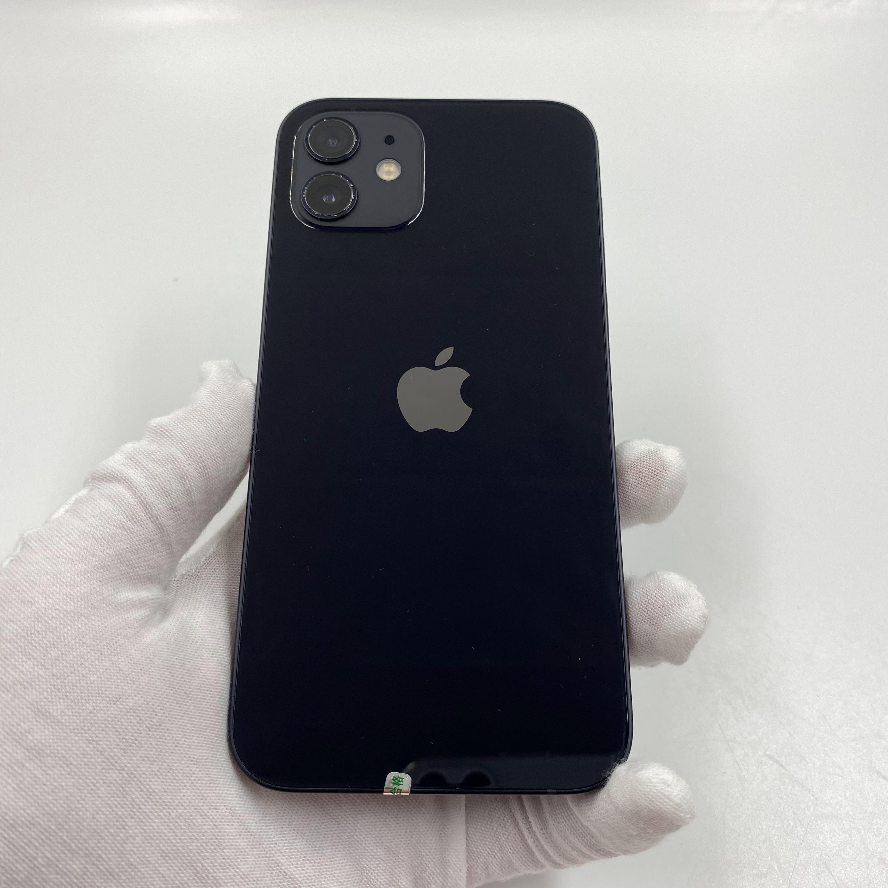 苹果【iPhone 12】5G全网通 黑色 64G 国行 8成新 真机实拍官保2021-11-02