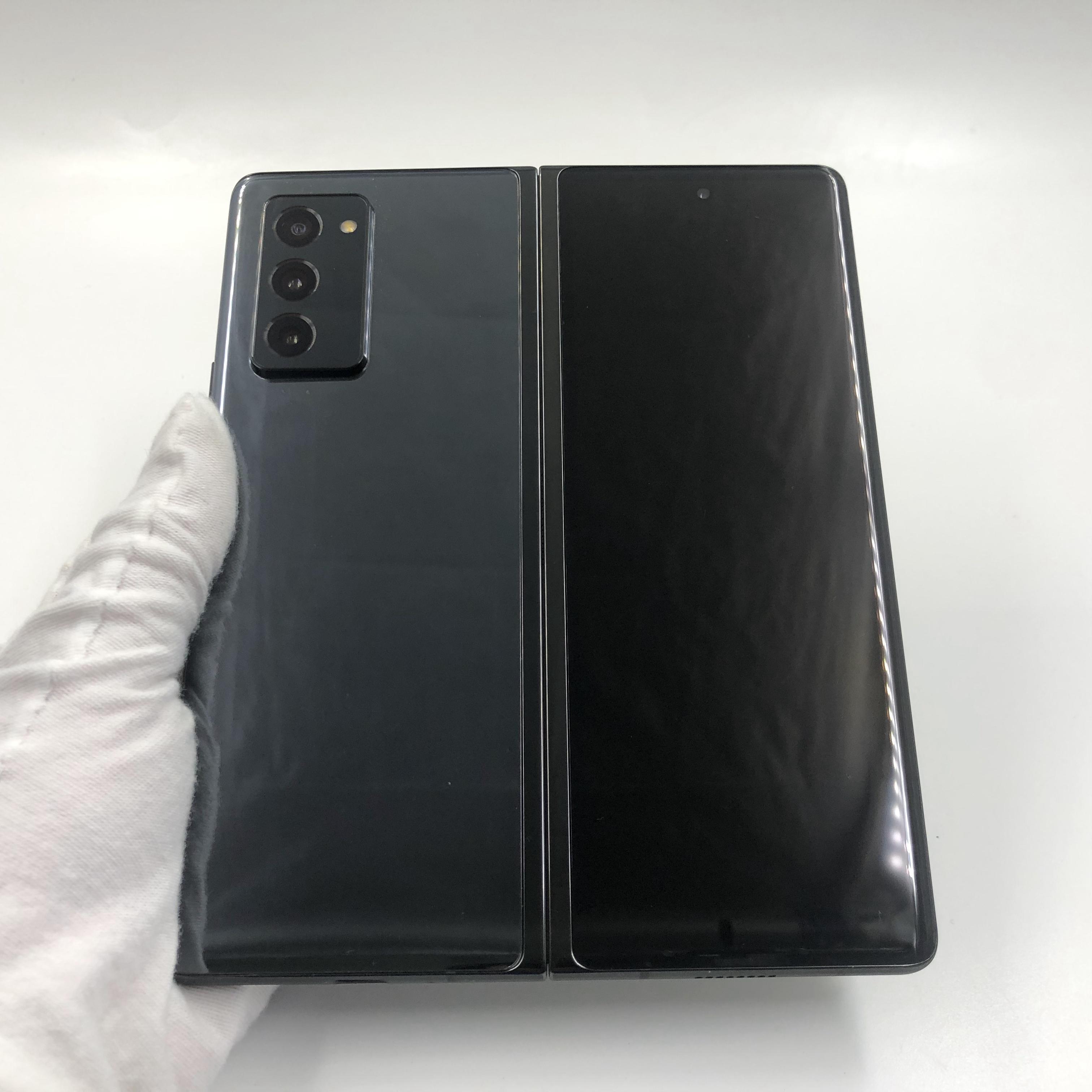三星【Galaxy Z Fold2 5G】5G全网通 松烟墨 12G/512G 国行 8成新 真机实拍原包装盒+配件