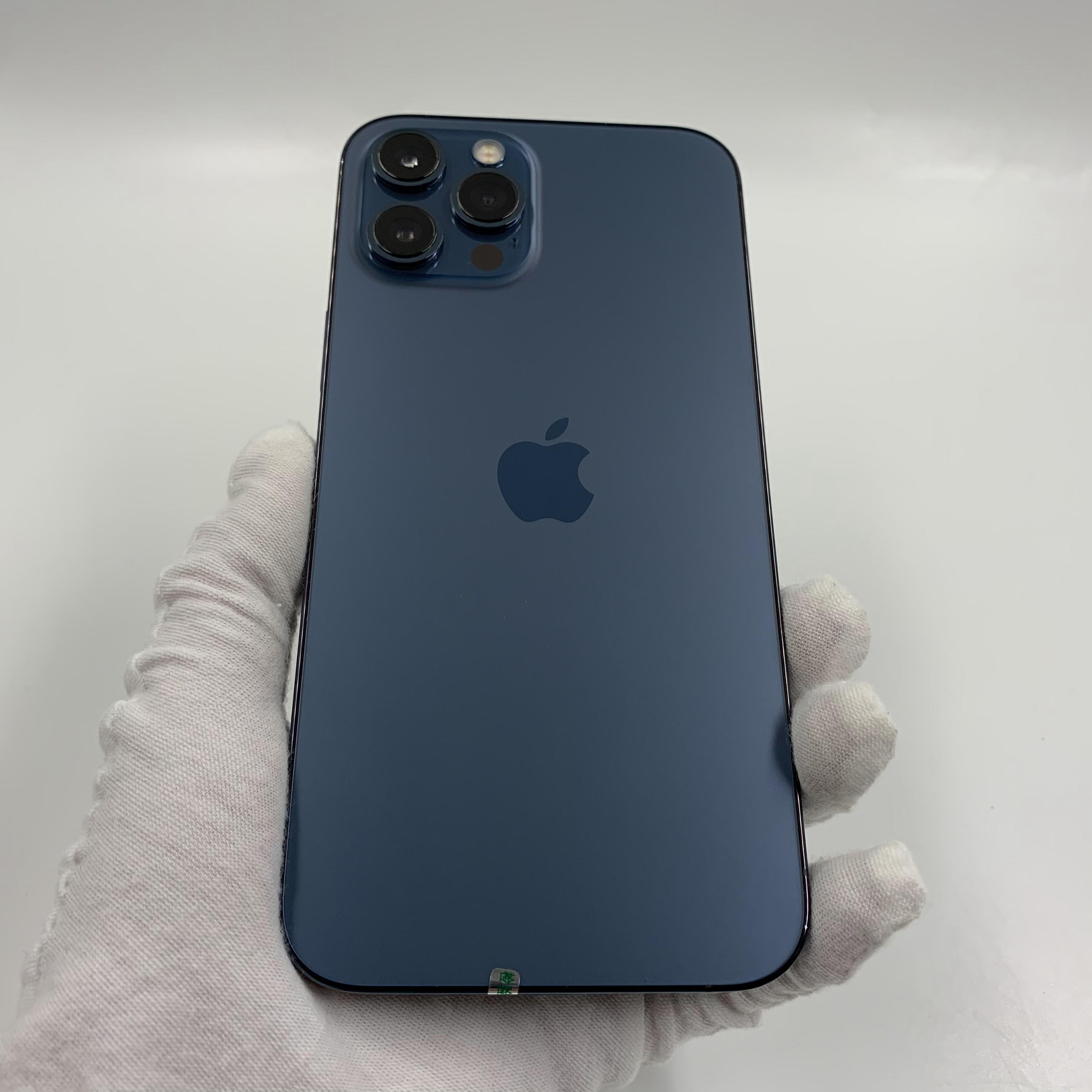 苹果【iPhone 12 Pro Max】5G全网通 海蓝色 256G 国行 99新 真机实拍保修2022-05-15