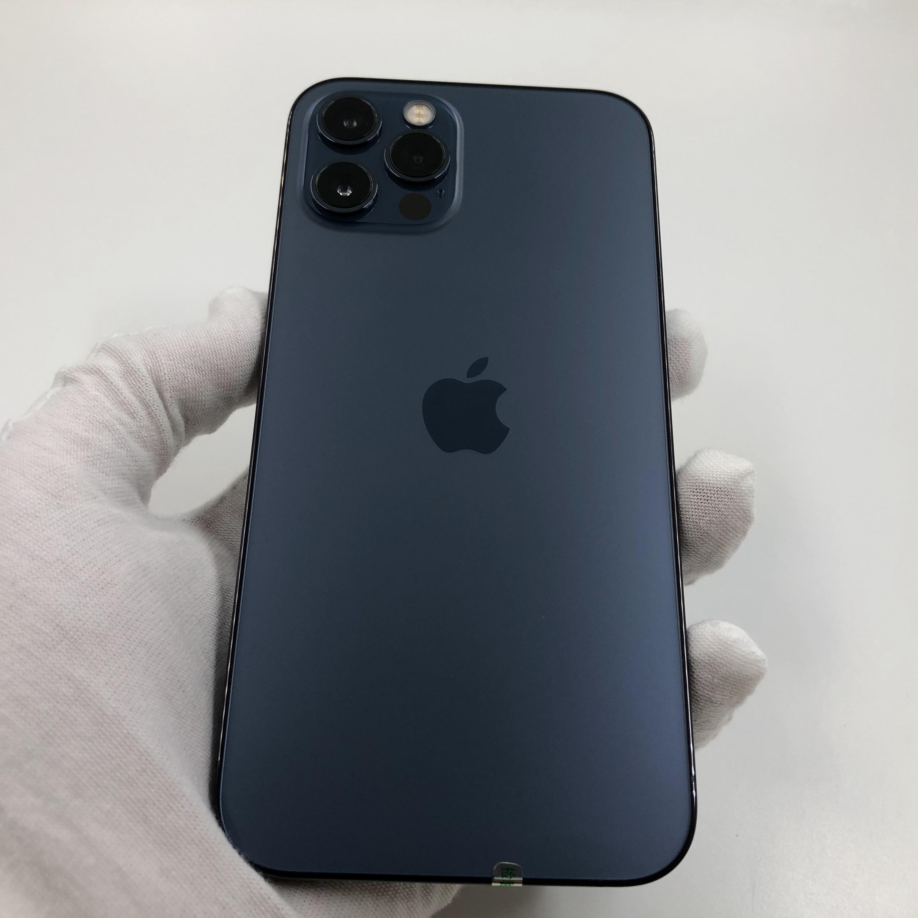 苹果【iPhone 12 Pro】5G全网通 海蓝色 128G 国行 95新 真机实拍官保2022-02-01