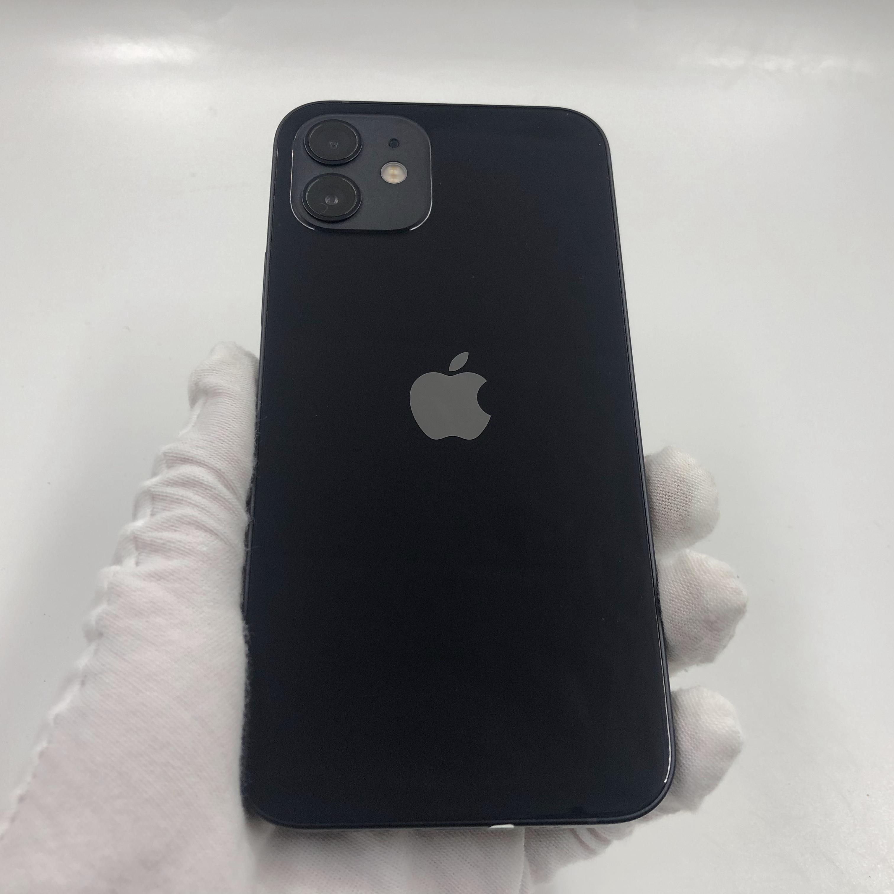 苹果【iPhone 12】5G全网通 黑色 64G 国行 95新 真机实拍保修2022-03-07