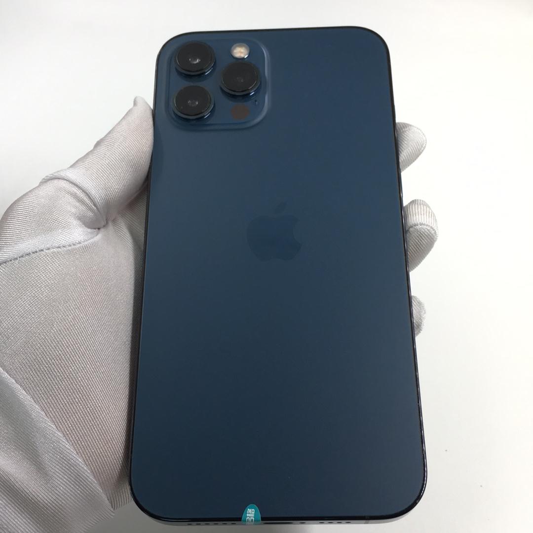 苹果【iPhone 12 Pro Max】5G全网通 海蓝色 128G 国行 9成新 128G真机实拍