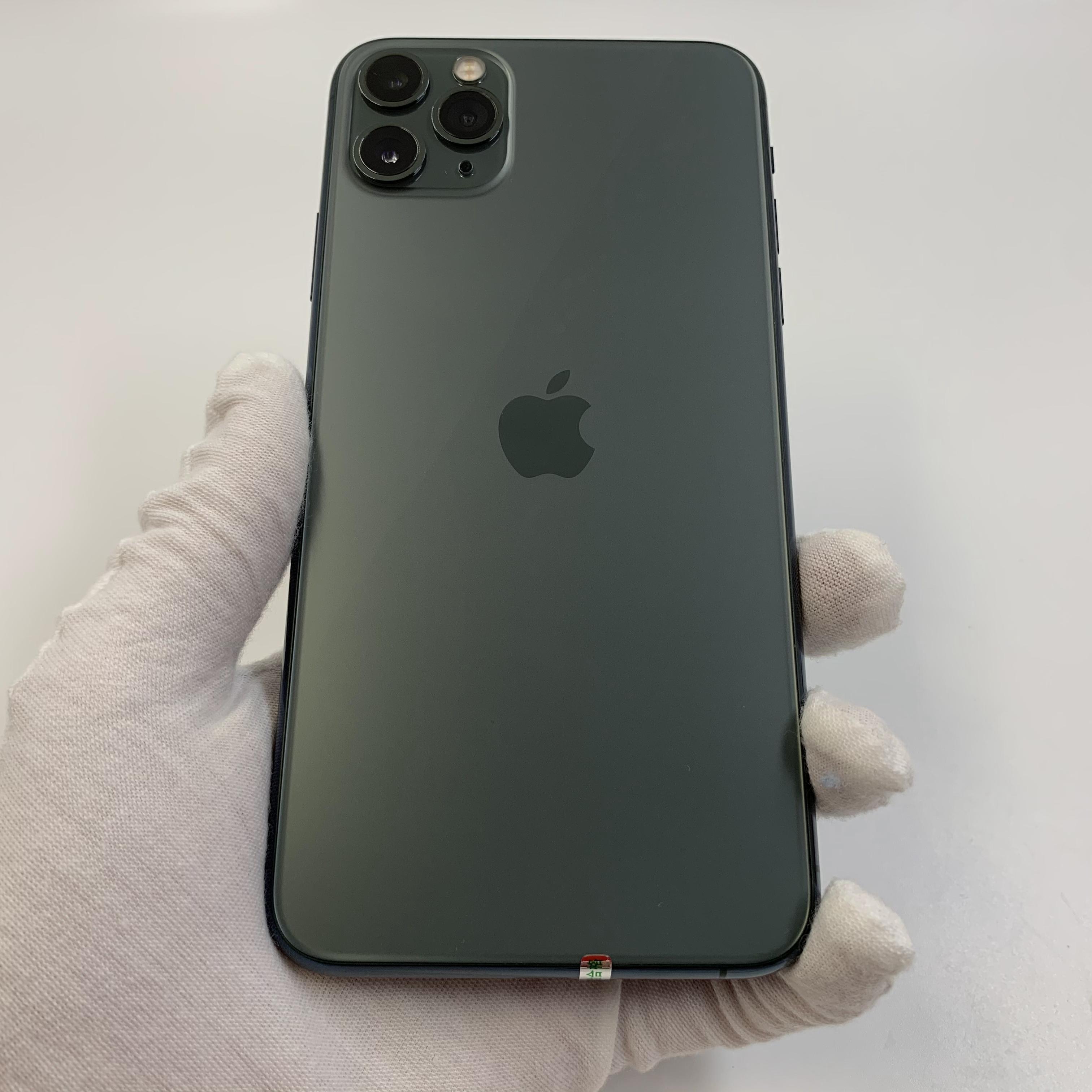 苹果【iPhone 11 Pro Max】4G全网通 暗夜绿色 64G 国行 95新 真机实拍