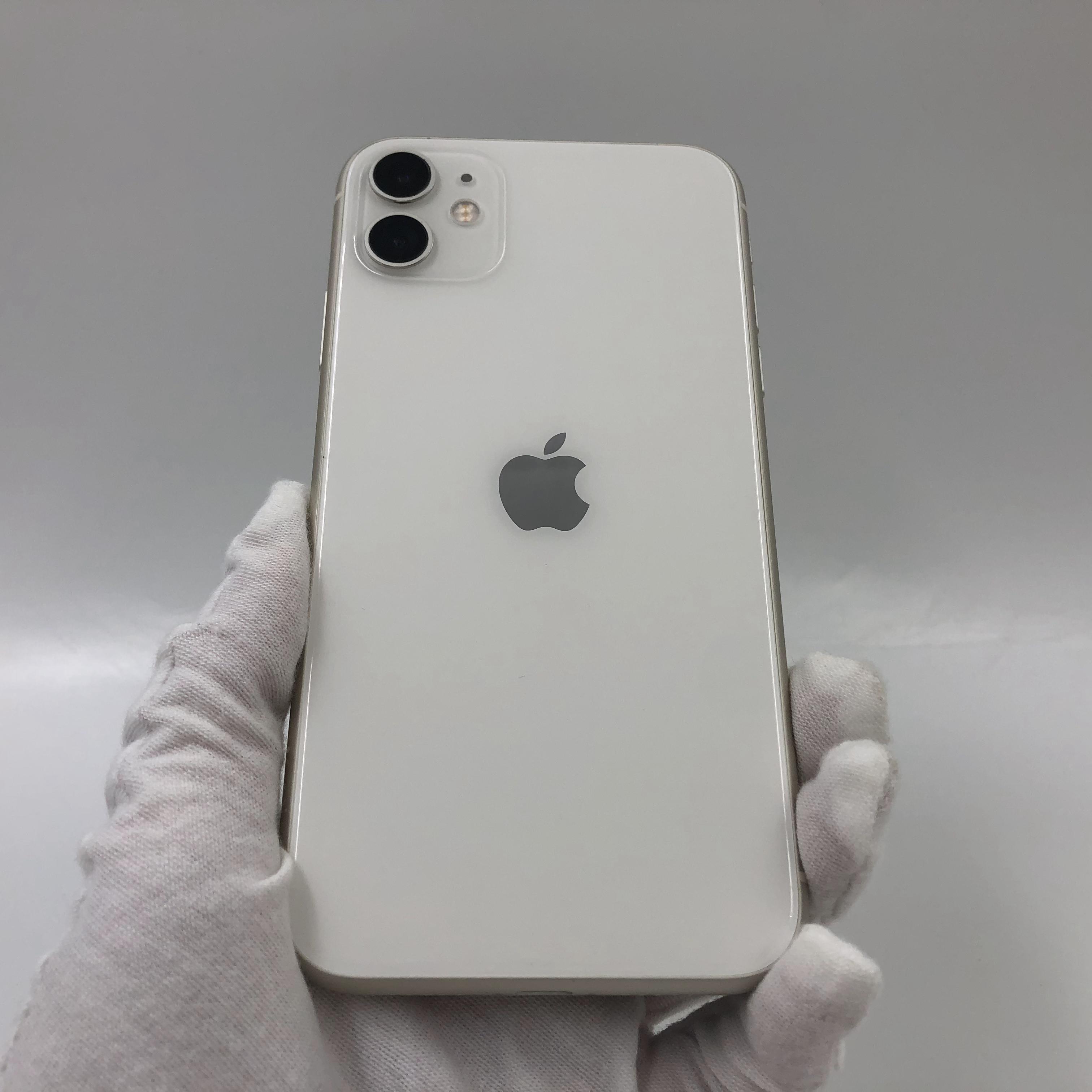 苹果【iPhone 11】4G全网通 白色 64G 国行 95新 真机实拍官保2022-02-09
