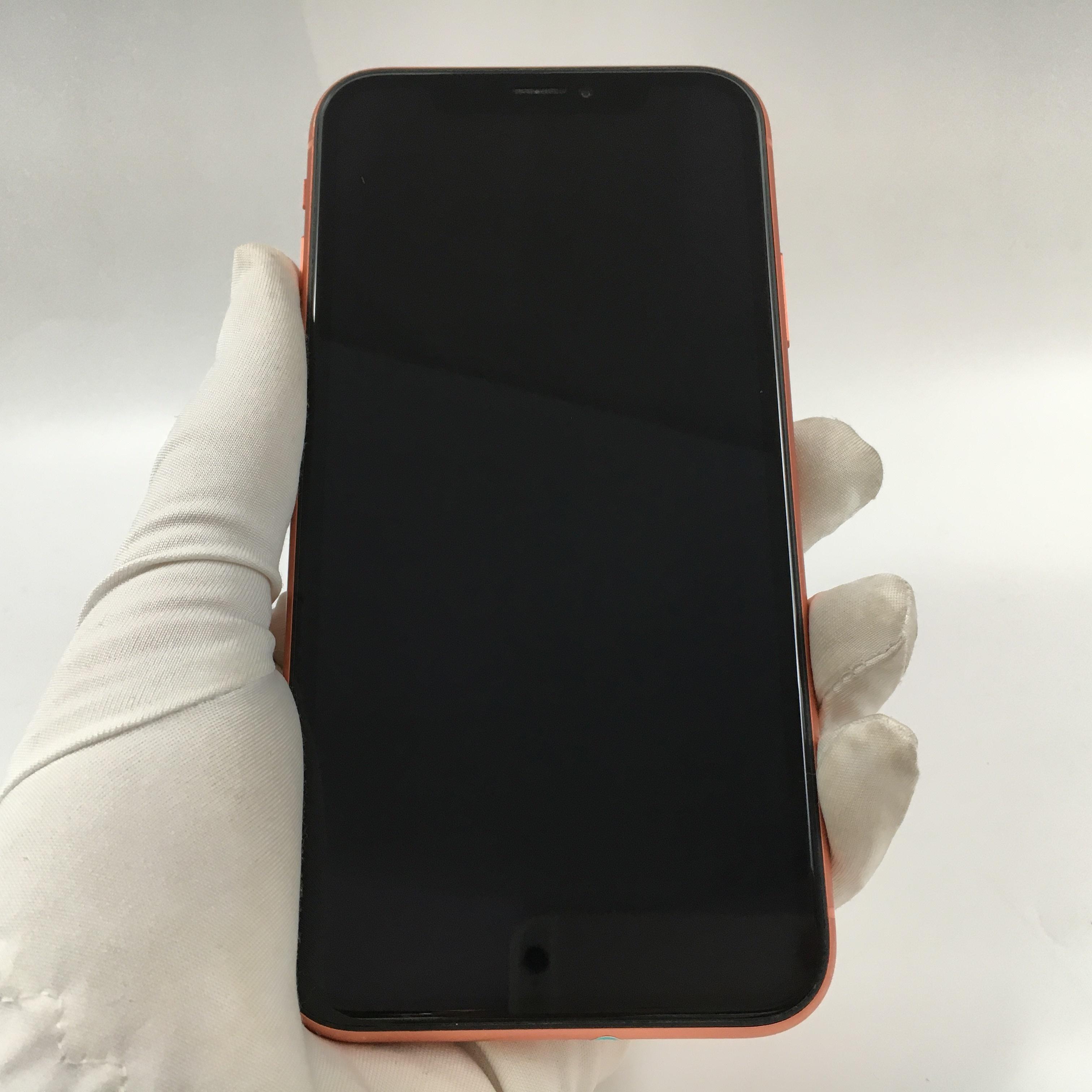 苹果【iPhone XR】4G全网通 珊瑚色 256G 国行 8成新
