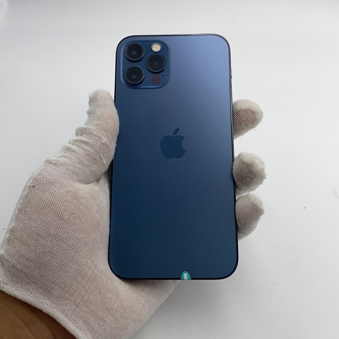 苹果【iPhone 12 Pro】5G全网通 海蓝色 128G 国行 9成新