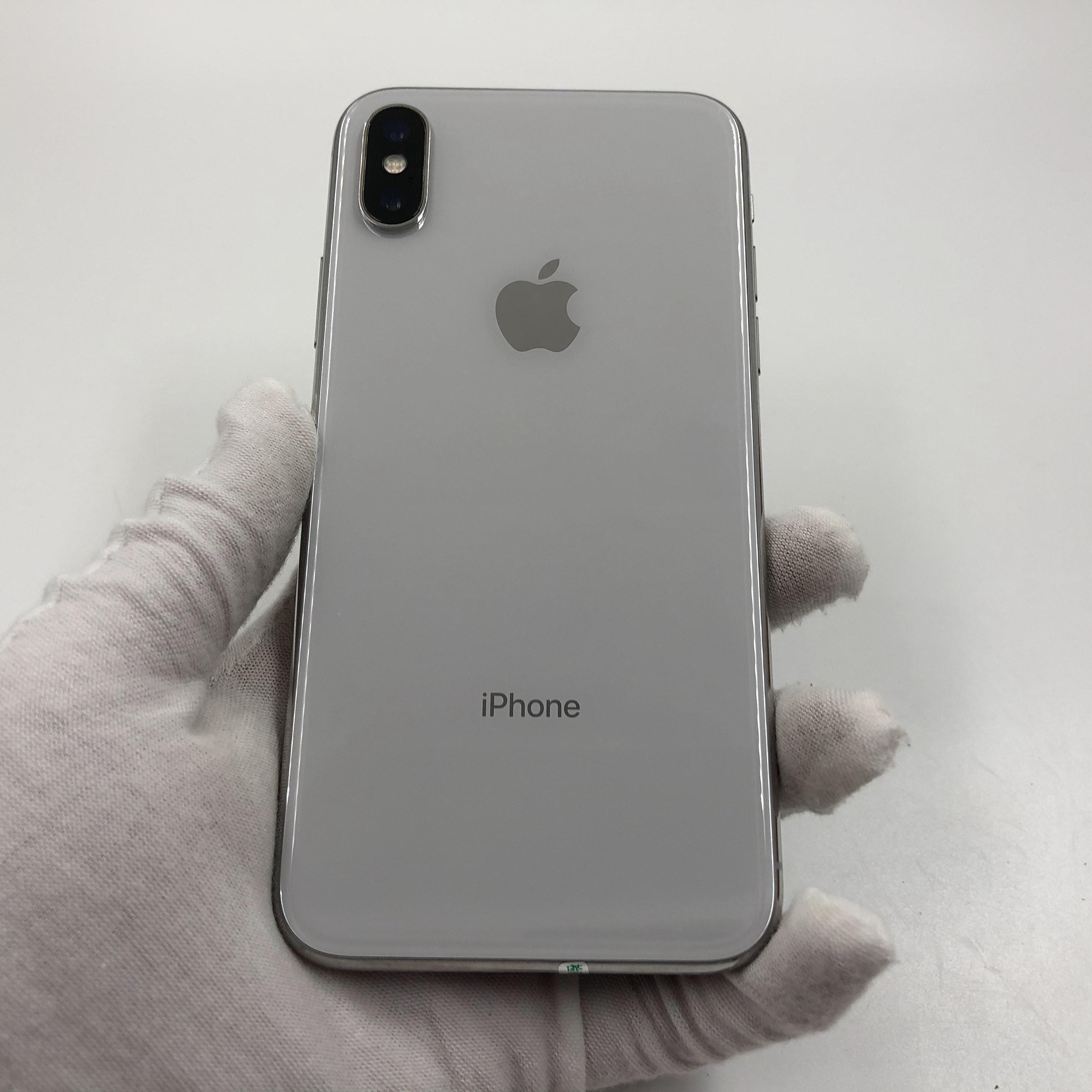 苹果【iPhone X】4G全网通 银色 64G 国行 8成新 真机实拍